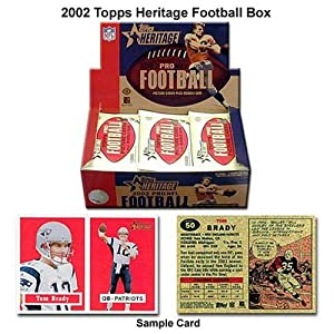 Topps 2002 Nfl Topps Heritage Box Of Unopened Cards