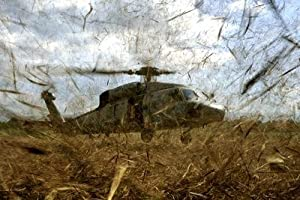 A Us Navy Hh-60 Seahawk Stirs up Debris While Taking off Peel and Stick Wall Decal
