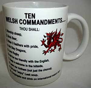 Ten Welsh Commandments Design Ceramic Mug