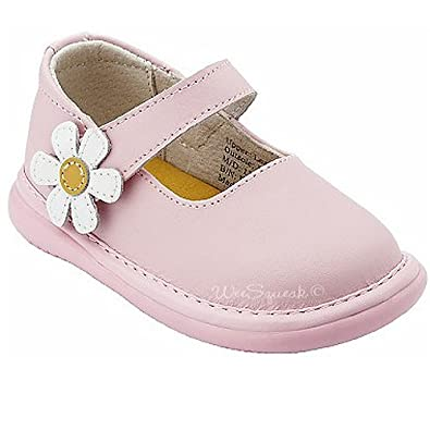 Amazon.com: Wee Squeak Baby Toddler Girl Shoes Light Pink ...