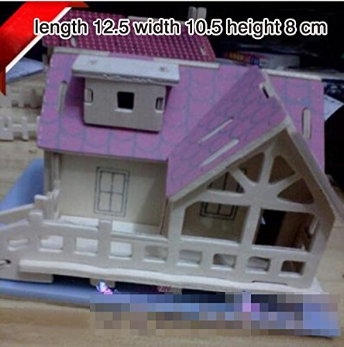 Thinkmax 3D Three-Dimensional Puzzle Wooden House Model,Children'S Educational Toys£¨Small Cottage£© front-320980