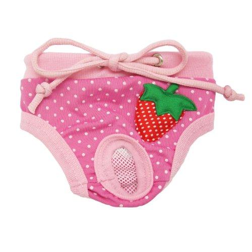 Alfie Pet Apparel - Torri Diaper Dog Sanitary Pantie - Color: Pink, Size: S (For Girl Dogs) front-844108