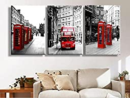 Warm family&Warm house Modern Wall Painting London Landscape Home Decorative Art Picture Paint on Canvas Print 3 Piece Hot Sell no Framed