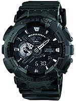 Casio - GA-110CM-1AER - G-Shock - Montre Homme - Quartz Analogique - Digital - Cadran Noir - Bracelet Résine Noir