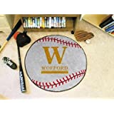 "Wofford Terriers 29"" Round Baseball Floor Mat (Rug)"