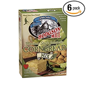 Hodgson Mill Mexican Style Jalapeno Cornbread Mix, 16-Ounce Units (Pack of 6)