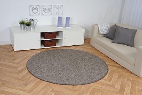 Hochflor Teppich Shaggy Amarillo schlamm braun rund, Größe Auswählen:300 cm rund