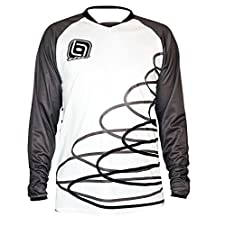 T.H.E. Industries Spiral Long Sleeve Jersey, Black, X-Large