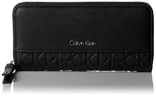 Calvin Klein JeansMISH4 LARGE ZIPAROUND - Portafogli Donna , Nero (Nero (Black 001)), 4x22x3 cm (B x H x T)