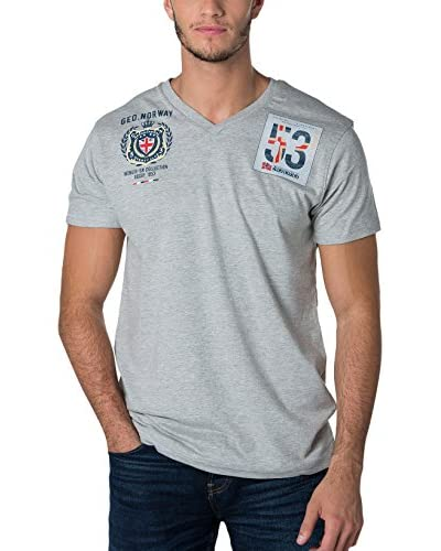 Geographical Norway Camiseta Manga Corta Snht Gris