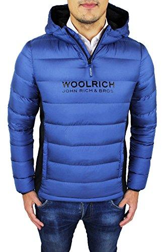 Piumino uomo Woolrich Giubbotto blu art. WKCPS1752 vera piuma d'oca B 'S DOWN ANORAK (M)