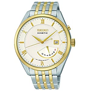 Seiko Men's SRN056 Analog Display Japanese Quartz Two Tone Watch