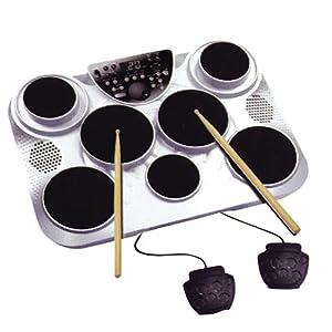 Spectrum AIL601 7 Pad Digital Drum Pack 2 Foot Pedals AC Adapter