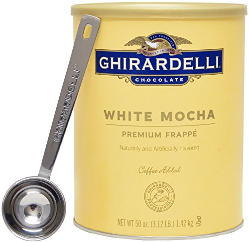 Ghirardelli - White Mocha Premium Frappé 3.12lbs - with Exclusive 1.5 Tbsp Measuring Spoon (Ghirardelli Beverage compare prices)