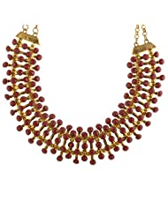 Mask Fashions Gold Metal Beads Necklace For Women