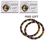Shahnaz Husain Shafair Ayurvedic Fairness Soap - 100g - (Pack of 2) - with FREE GIFT (Pair of Multicolor Bangles)