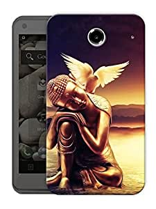 "Humor Gang Calm Buddha Scenery Printed Designer Mobile Back Cover For ""Lenovo S880"" (3D, Matte Finish, Premium Quality, Protective Snap On Slim Hard Phone Case, Multi Color)"