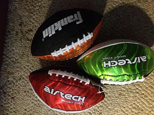 Franklin Air Tech Sport Foam Mini Football, Sold Individually, Colors & Styles Vary (Airtech Football compare prices)