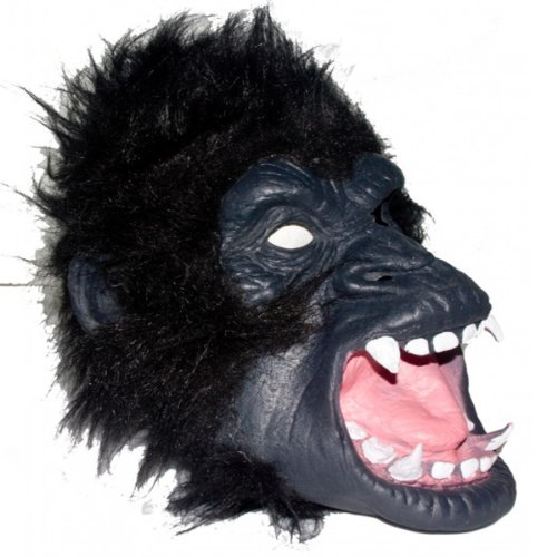 Realistic Gorilla Head Rubber Mask Adult Costume