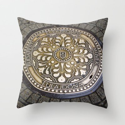 Manhole Cover, Gully,hungaria, Budapest Pillowcase New Design Pillow cover for Sofa Octopus