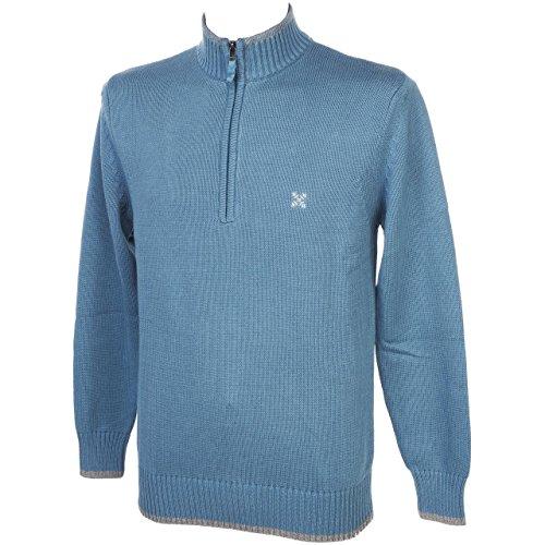 Oxbow Nuad ardesia 1/2zip-Felpa in maglia Blu petrolio Large