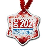 Christmas Ornament 202 Washington, DC red/blue, red - Neonblond