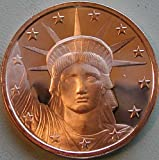1 Ounce 2012 .999 Pure Copper Bullion Round Statue of Liberty Design