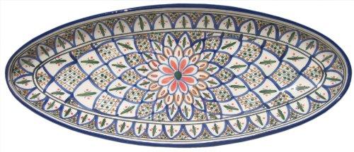 Le Souk Ceramique Extra Large Oval Platter, Tabarka Design
