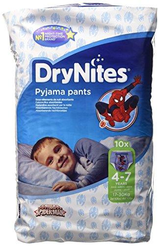 Kimberly-Clark DryBites  Mutandine assorbenti per la notte, bimbo, 4 - 7 anni (17kg - 30kg), confezione da 10 pezzi