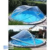 Cabrio Dome Überdachung, Pool Abdeckung für Stahlmantel Ovalbecken, Größe:7.37 x 3.60 m