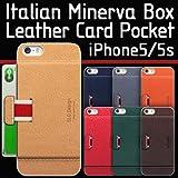 【送料無料】≪iPhone5/5S≫カード収納可能!牛革ポケットケース/SLG Design D6 Italian Minerva Box Leather Card Pocket Bar/イタリアンミネルバボックスレザーカードポケットバー/フィルム1枚入り/アイフォンケース/スマートフォンケース/スマホケース