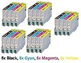 Tonercenter24 - COMPATIBLE INK CARTRIDGE REPLACEMENT FOR EPSON STYLUS BW 40 BX 300F BX600F D78 D92 D120 DX4000 DX4050 DX4450 DX5000 DX5050 DX6000 DX6050 DX7000F DX7000FW DX7400 DX7450 DX8400 DX9450 SX20 SX21 SX100 SX 105 SX115 SX200 SX205 SX215 SX400 SX4