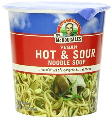 Dr. McDougall's Right Foods Vegan Hot & Sour Ramen, 1.9-Ounce Cups (Pack of 6) by Dr. McDougall's Right Foods