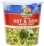 Dr. McDougall's Right Foods Vegan Hot & Sour Ramen, 1.9-Ounce Cups (Pack of 6)