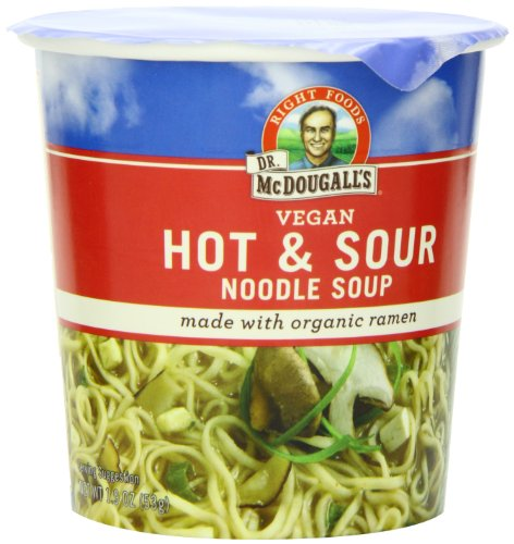 Dr. McDougall's Right Foods Vegan Hot & Sour Ramen, 1.9-Ounce Cups (Pack of 6) (Hot And Sour Soup compare prices)