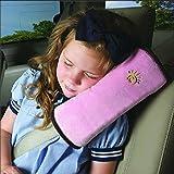Ukamshop(TM)Baby Children Safety Strap Car Seat Belts Pillow Shoulder Protection (Pink)