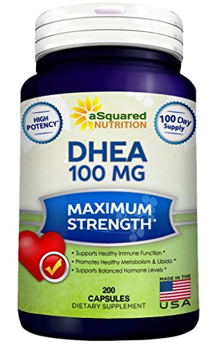 Pure-DHEA-100mg-Max-Strength-200-Capsules-to-Promote-Balanced-Hormone-Levels-for-Women-Men-Natural-DHEA-Supplement-Pills-to-Support-Healthy-Metabolism-Libio-Brain-Immune-Function-Energy