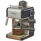 Kitchen - Cooks Professional Italian Espresso Cappuccino or Latte Coffee Machine - 800 Watts. (Graphite)