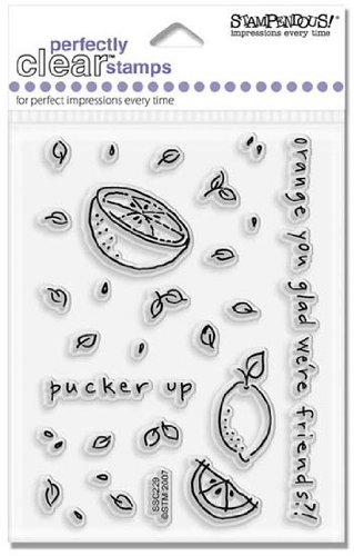 Cutie Citrus Clear Unmounted Rubber Stamp Set (SSC229)