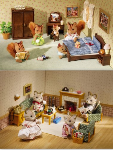 Calico Critters 2 Furniture Sets Master Bedroom Deluxe Living Room