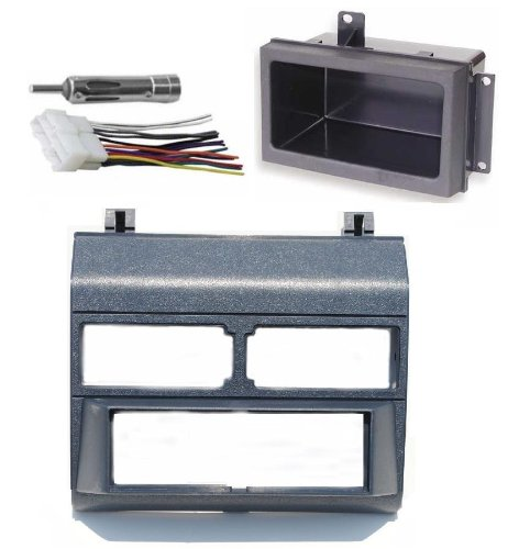 1988-1996 Blue Chevrolet & GMC Complete Single Din Dash Kit + Pocket Kit + Wire Harness + Antenna Adapter. (Chevy - Crew Cab Dually, Full Size Blazer, Full Size Pickup, Suburban, Kodiak) (GMC - Crew C