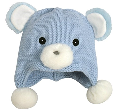 Stephan Baby Blue Bear Infant Knit Hat (6-12 Months)