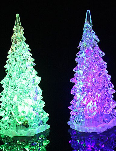XINHAOK LED Colors Changing Acrylic Christmas Tree Night Light Lamp Home Decor Gift