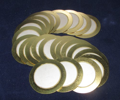 20 Pieces - 27Mm Piezo Disc Elements No Leads