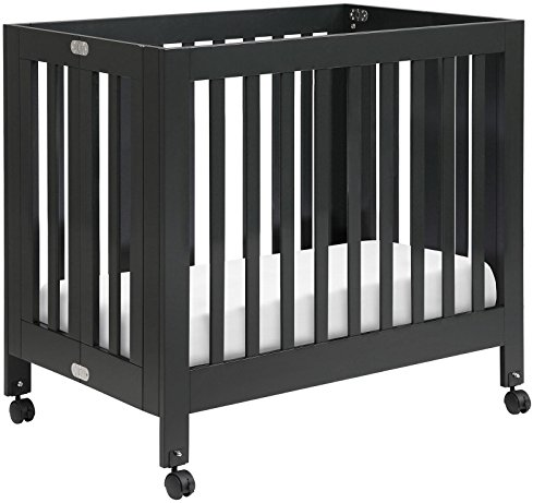 Babyletto Origami Mini Crib, Black - 1