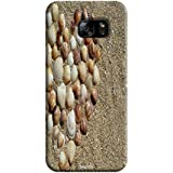 Tecozo Designer Printed Back Cover For Samsung Galaxy S7 Edge, Samsung Galaxy S7 Edge Back Cover, Hard Case For Samsung Galaxy S7 Edge, Case Cover For Samsung Galaxy S7 Edge, (Heart Of Shells In Sand Design,Pattern)