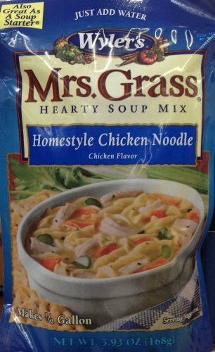 Mrs. Grass Hearty Sup Mix, Homestyle Chicken Noodle, 5.93 oz (Pack of 3) (Hearty Soup Mix compare prices)