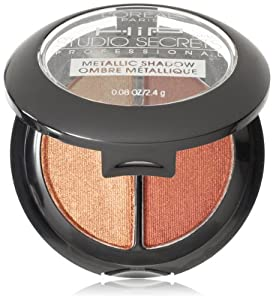 L'Oreal Paris HiP Studio Secrets Professional Metallic Eye Shadow Duos, Charged, 0.08 Ounces