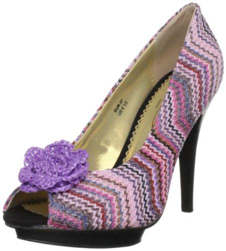 Poetic Licence Women's All Mixed Up Purple Multi Platforms Heels 4028-2B 3.5 UK, 36 EU