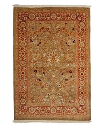 Darya Rugs Ottoman Oriental Rug, Red, 4′ 2″ x 6′